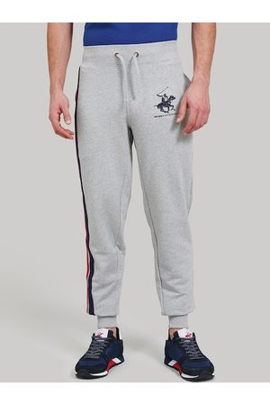 Beverly Hills Polo Club Men Grey Solid Circuit Breaker Joggers