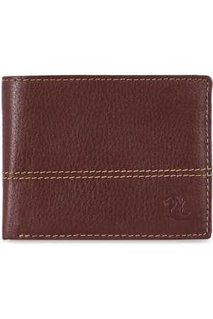 KARA Men Maroon Solid Two Fold Wallet