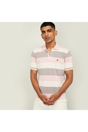 Fahrenheit Men Polo Shirts - Men Striped Slim Fit Polo T-shirt