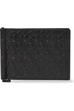 Saint Laurent Logo-Debossed Leather Wallet with Money Clip