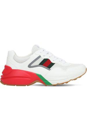 Gucci Men Sneakers - Web Rhyton Sneakers