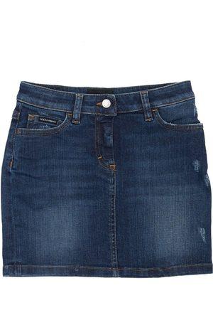 Dolce & Gabbana Cotton Skirt W/ Patch