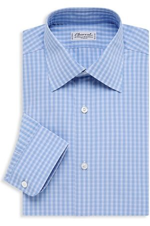 Charvet Men Shirts - Small Picnic Plaid Dress Shirt