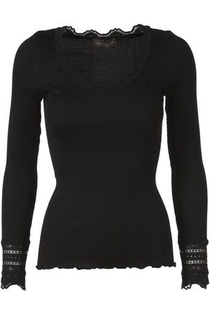 Rosemunde Women Long Sleeve - Silk Top Long Sleeve Vintage Lace