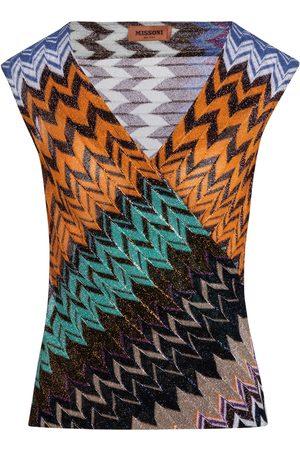 Missoni Women Tank Tops - Zig-zag knit tank top