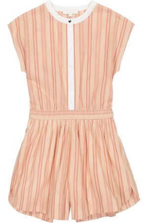 Chloé Girls Playsuits - Striped cotton playsuit