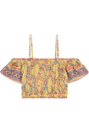 POUPETTE ST BARTH Girls Tops - Donna floral off-shoulder top