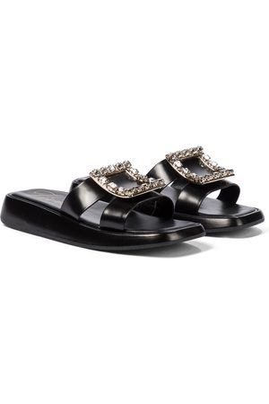 Roger Vivier Women Platform Sandals - Bikiviv' embellished leather platform sandals