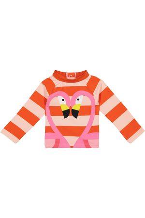 Stella McCartney Tops - Baby Flamingo striped rashguard