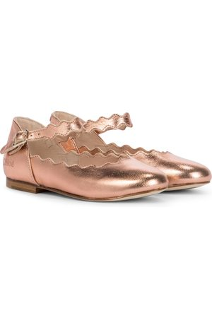 Chloé Girls Ballerinas - Metallic leather ballet flats