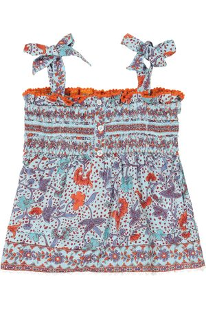 POUPETTE ST BARTH Girls Tops - Cindy floral smocked top