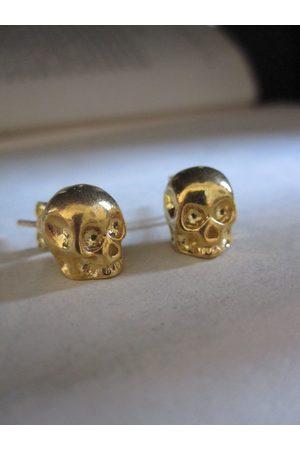 Collard Manson Earrings - CollardManson 925 Plated Skull Studs