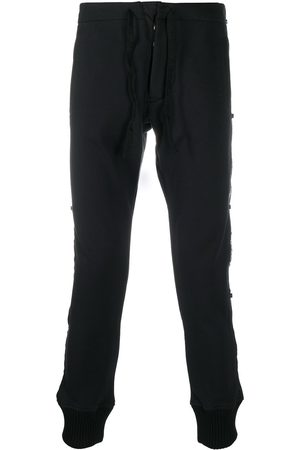 Paul & Shark Men Slim Trousers - Logo-panelled slim trousers