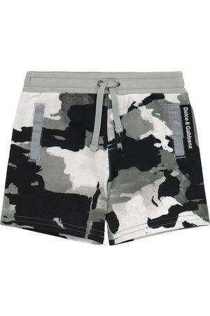 Dolce & Gabbana Baby camo cotton jersey shorts