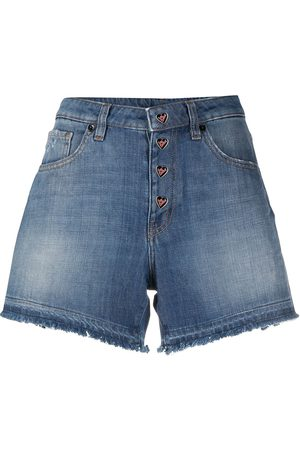 Love Moschino Women Shorts - Frayed edge denim shorts