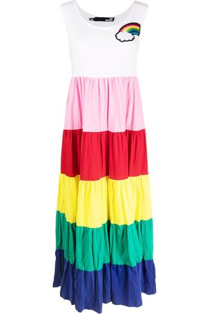 Love Moschino Rainbow-print maxi dress