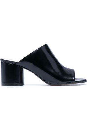 Maison Margiela Tabi toe white-stitch sandals
