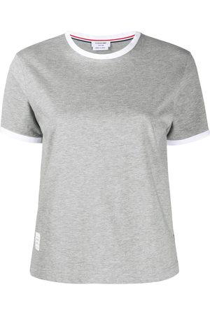 Thom Browne Step-hem short-sleeve T-shirt
