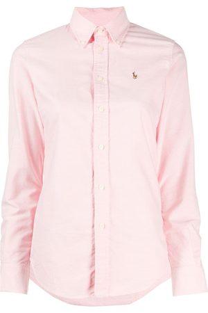Polo Ralph Lauren Women Long Sleeve - Embroidered-logo button-down shirt