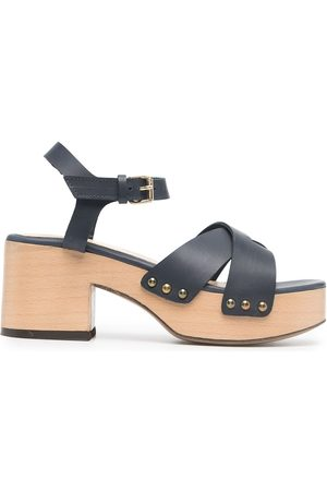 Tila March Heeled leather sandals