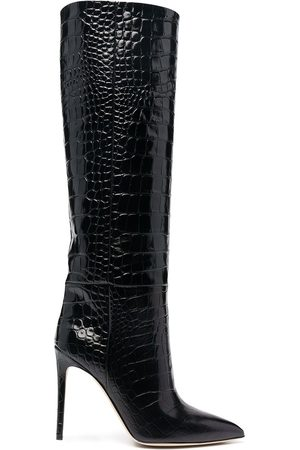 PARIS TEXAS Embossed crocodile effect boots