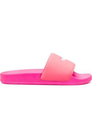 Msgm Women Sandals - Logo-print slides