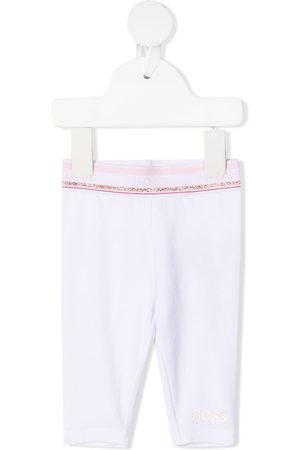 HUGO BOSS Logo-waistband fitted leggings