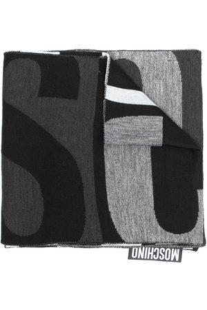 Moschino Men Scarves - Logo wool-blend scarf