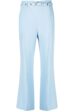 RED Valentino High-rise belted cropped trousers