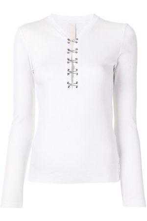 DION LEE Women Long Sleeve - Hook-detail long sleeve top