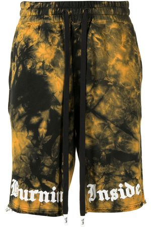 HACULLA Men Shorts - Tie dye shorts with embroidered logo
