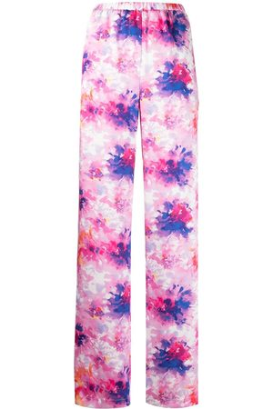 Msgm Floral-print trousers