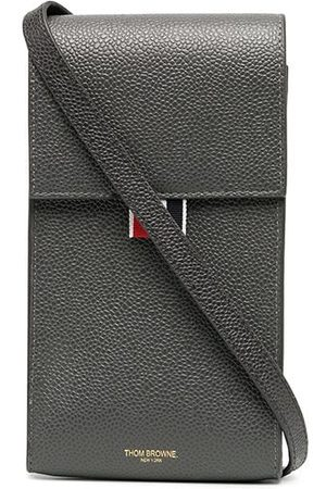 Thom Browne Men Phone Cases - RWB stripe phone holder