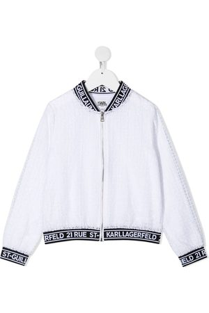 Karl Lagerfeld Girls Bomber Jackets - Ceremony organza bomber jacket