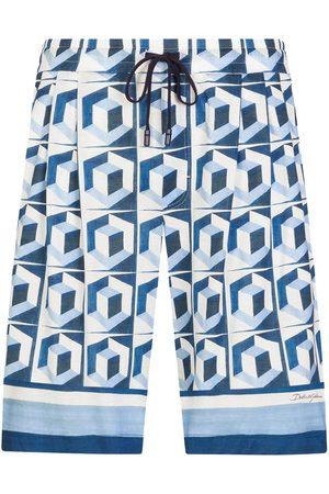Dolce & Gabbana Geometric print drawstring shorts