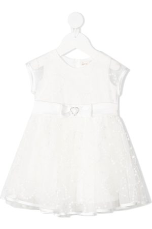 MONNALISA Baby Printed Dresses - Floral embroidery lace dress