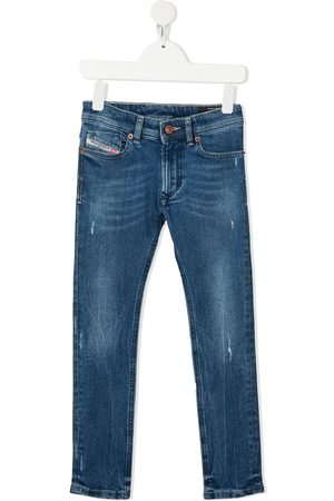 Diesel Boys Slim - Slim logo-patch jeans
