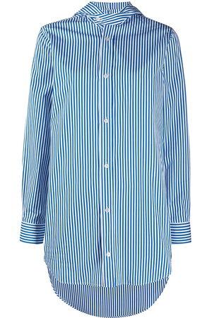 Plan C Striped hooded shirt