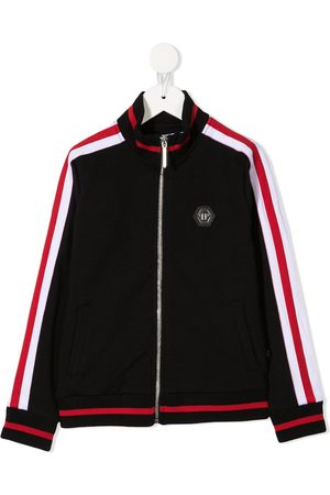 Philipp Plein Contrast panel zip-up sweatshirt