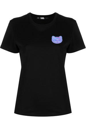 Karl Lagerfeld Women Short Sleeve - Mini Ikonik Choupette-patch T-Shirt