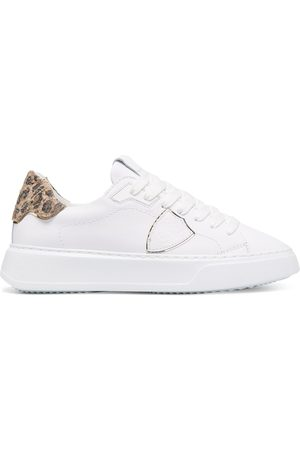 Philippe model Leopard print panelled sneakers
