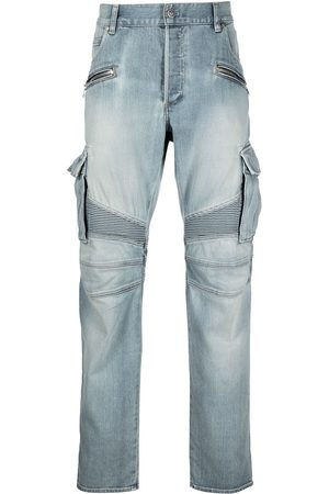 Balmain Cargo pocket tapered jeans