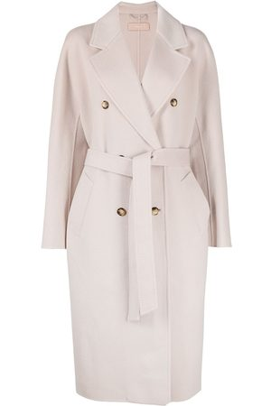 12 STOREEZ Belted double-breasted coat