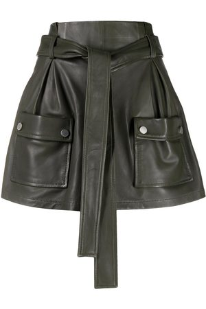 RED Valentino Tie-waist flap-pocket skort