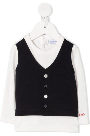 Emporio Armani Waistcoats - Waistcoat-layered T-shirt