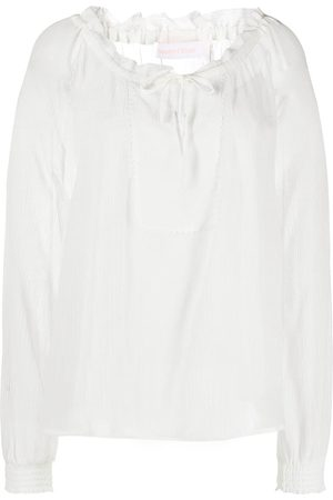 See by Chloé Tie-neck long-sleeve blouse