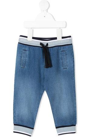 Dolce & Gabbana Baby Trousers - Drawstring denim trousers