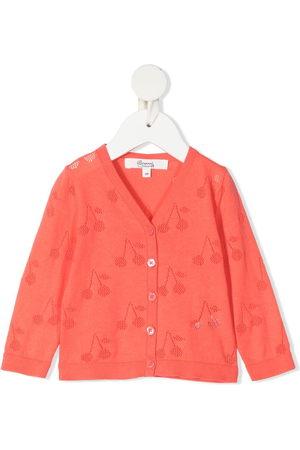 BONPOINT Open cherry knit cardigan