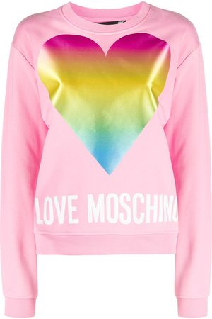 Love Moschino Women Sweatshirts - Logo-print round neck sweatshirt