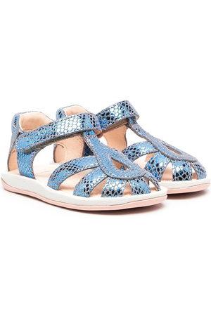 Camper Sandals - Snakeskin-effect touch-strap sandals